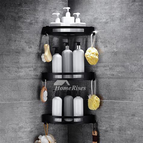 black bathroom shelves creative wall mounted black bathroom glass and brass