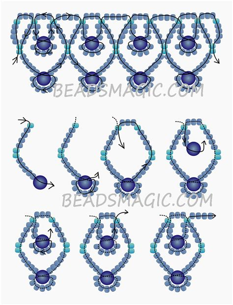 jewelry patterns free pattern for necklace blue sky magic