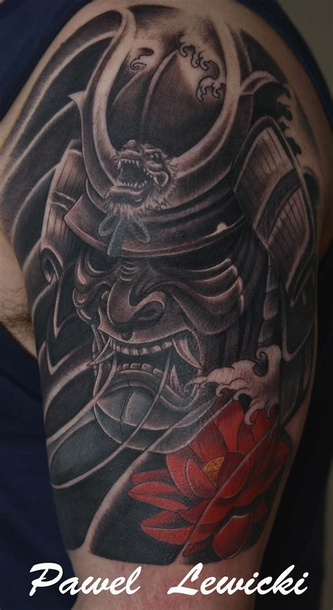 japanese mask tattoo japanese warrior mask