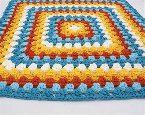 crochet tshirt rug items similar to square rug floor crochet t shirt yarn on etsy