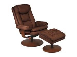 Swivel Recliner Chair With Ottoman Mac Motion Chairs Chocolate Nubuck Bonded Leather Swivel