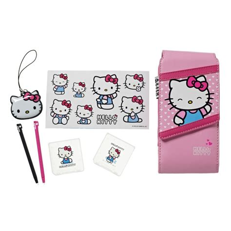 hello kitty nintendo ds hello kitty pink accessory kit travel pack for 3ds dsi
