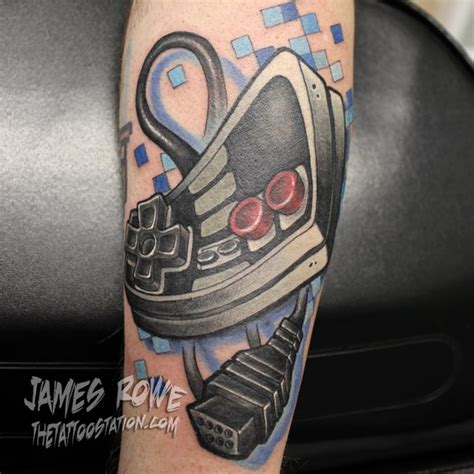 nintendo tattoo nintendo controller by rowe tattoonow