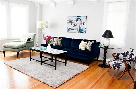 Navy Sofa Living Room Blue And White Interiors Living Rooms Kitchens Bedrooms And More