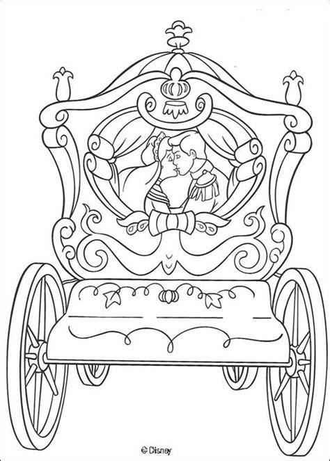 carrozza principesse disegni di cenerentola da stare e colorare