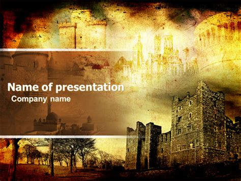 themes of english renaissance castles and fortress powerpoint template backgrounds