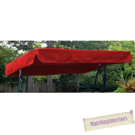 replacement canopy for 2 seater swing red water resistant 2 seater replacement canopy for garden