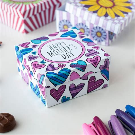 s day box how to make a paper gift box free template for s