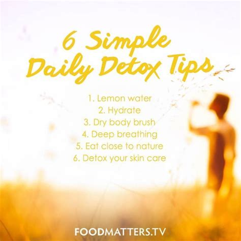 Food Matters Detox Plan by 6 Simple Detox Tips From Food Matters Www Hungryforchange