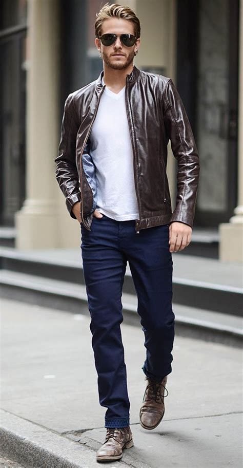 18 stylish with a leather jacket
