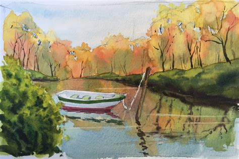 www painting lake teaches watercolor techniques for water