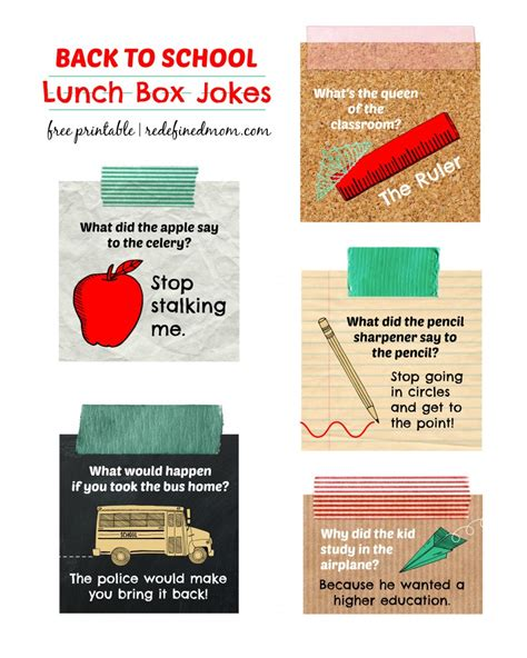 back to school lunch box jokes notes happiness is homemade back to school lunch box jokes printable