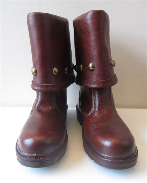 battle boots light brown with studs