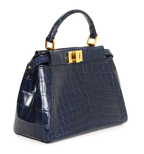 Fendi Medium 2j Grey Ghw fendi peekaboo crocodile www pixshark images