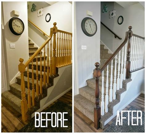 How To Restain Wood Banister 25 best ideas about painted stair railings on painting stairs banister rails and