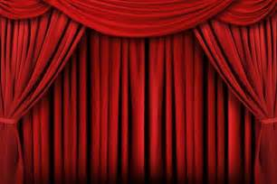 theatre curtain the corner of terror the curtain rises and the lights