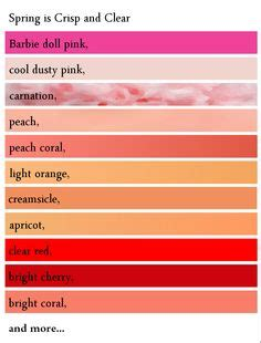 types of reds 1000 images about analysis spring color analysis on