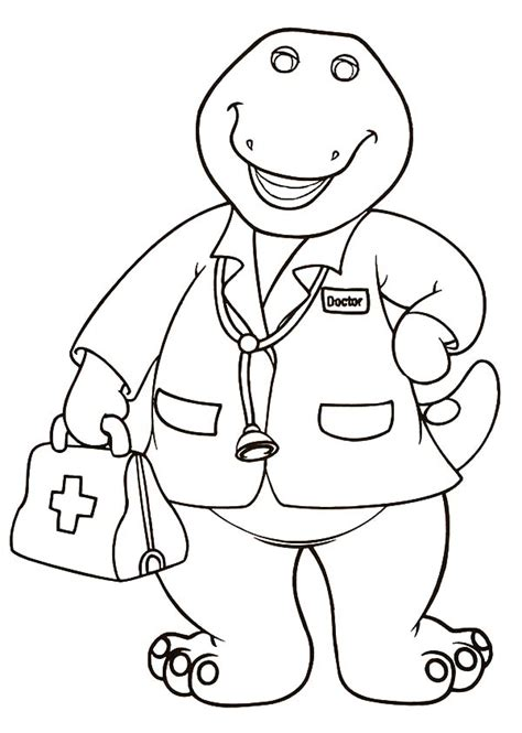 Go Barneys The Fall Barney Color by Barney And Farm Coloring Pages