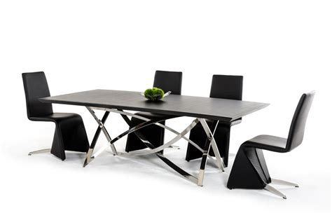 Ultra Contemporary Wenge Dining Table With Unique Steel Contemporary Dining Table Base