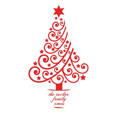 personalised xmas tree wall sticker  spin collective