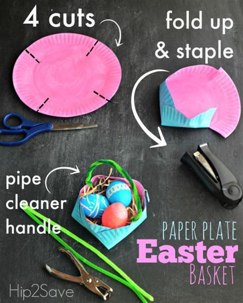How To Make Easter Baskets Out Of Paper - 17 best ideas about paper plate basket on