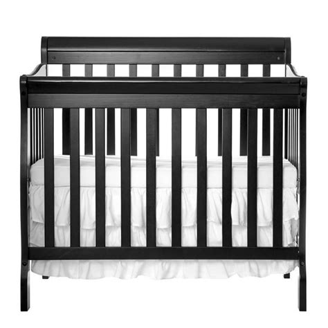 Dream On Me Aden Convertible 4 In 1 Mini Crib In Black 628 K Black 4 In 1 Convertible Crib