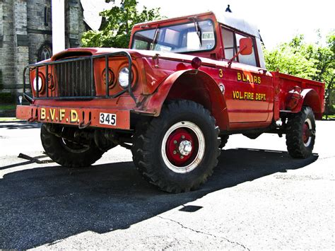 jeep fire truck 1968 kaiser jeep m 715 fire truck jeep fire and brush