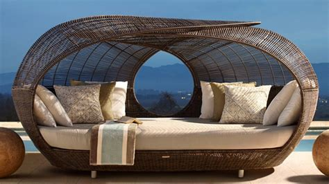 Outdoor Furniture Daybed Make Outdoor Living Comfy With 15 Rattan Daybeds Home Design Lover