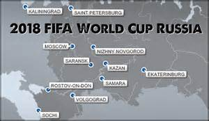 world cup host cities map 2018 fifa world cup russia