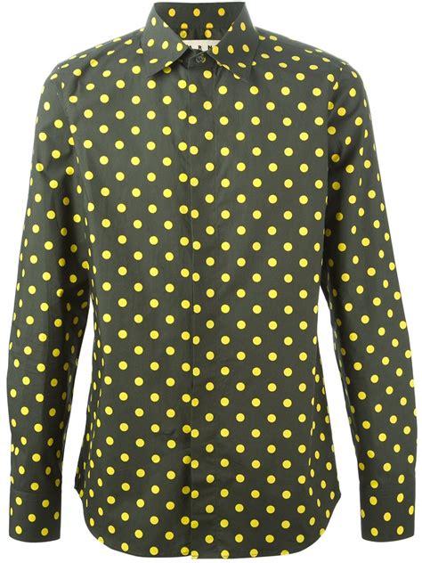 Polkadot Shirt marni polka dot shirt in green for lyst