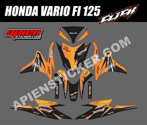 striping motor vario fi 125 click orange apien sticker