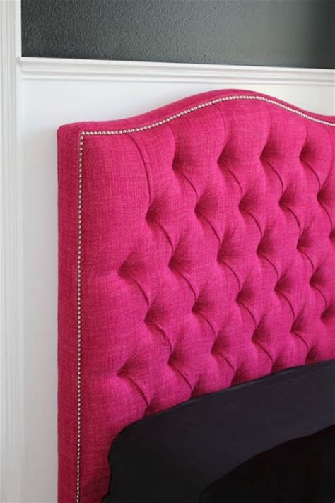 pink headboard hot pink tufted headboard it s so cute tufted