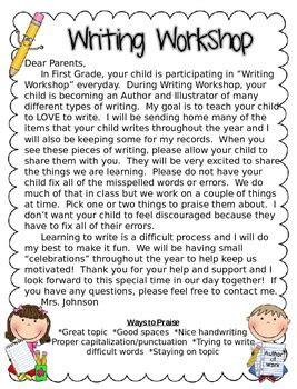 Parent Letter Writing Workshop writing workshop letter to parents editable freebie by jd s rockin readers