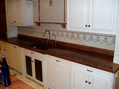 Patina Copper Backsplash by Patina Copper Backsplash 17 Best Images About Kitchen
