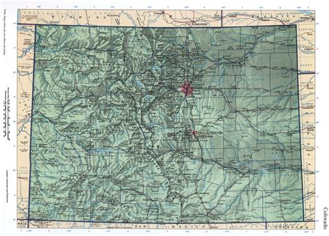 detailed map of colorado usa colorado mapfree maps of us