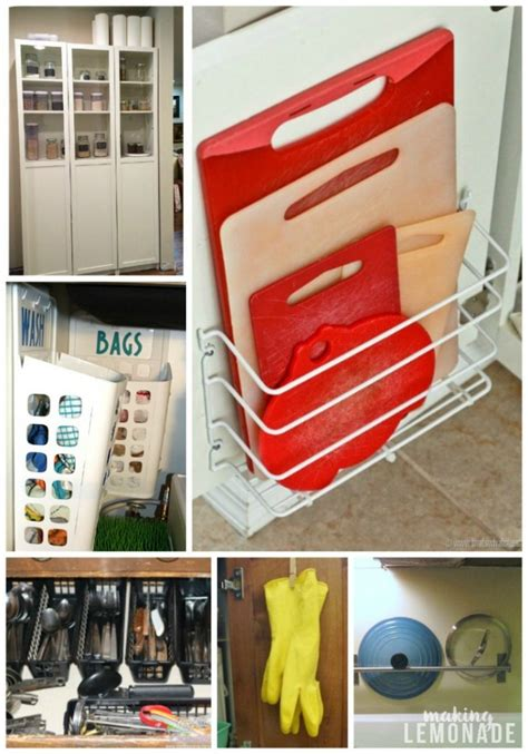 hacks storage 30 genius kitchen storage hacks ideas lemonade