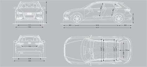 Audi A3 Dimensions 2014 by Audi A3 Dimensions Uk Exterior And Interior Sizes Carwow