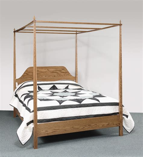 bed with posts sheffield collection pencil post bed with canopy amish valley products