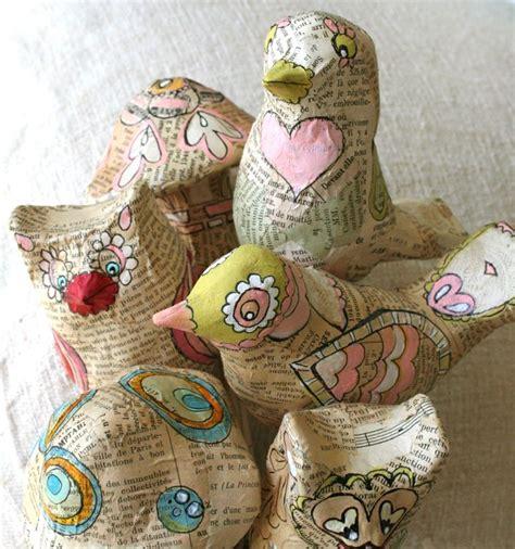 Make Paper Mache Birds - paper mache birds for the birds bird