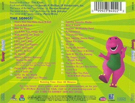 7 Great Cds For Children by Barney Rocks Barney Songs Reviews Credits Allmusic