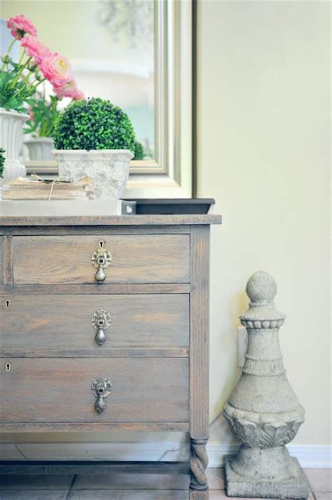 Grey Stained Dresser by Dresser Makeover With Driftwood Gray Stain Paint
