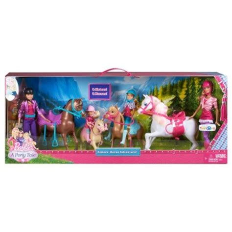 barbie sisters horse adventure play set toy review barbie her sisters in a pony tale horse adventure by