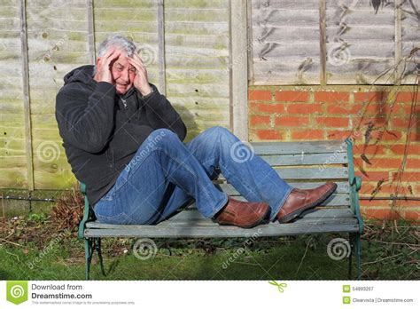 bench face panic attack man on a bench stock photo image 54893267