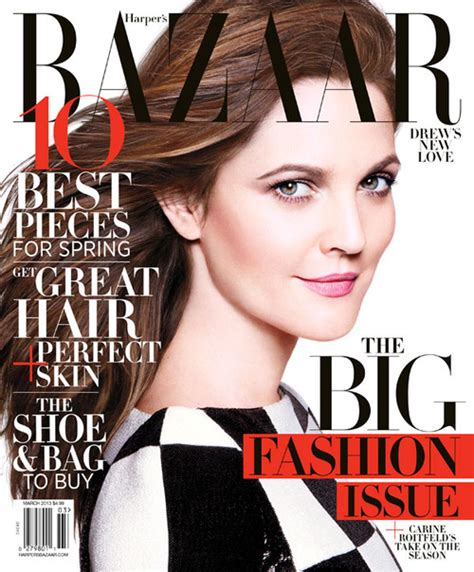 Drew Barrymore On March Cover Of drew barrymore covers s bazaar us in louis vuitton