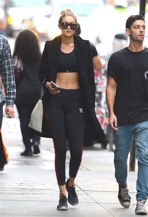 Hair Style Kit Shoes by Wearing Nike Flyknit Sneakers 41 Times Gigi Hadid