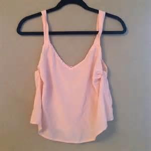 light pink crop top xs from s closet on poshmark