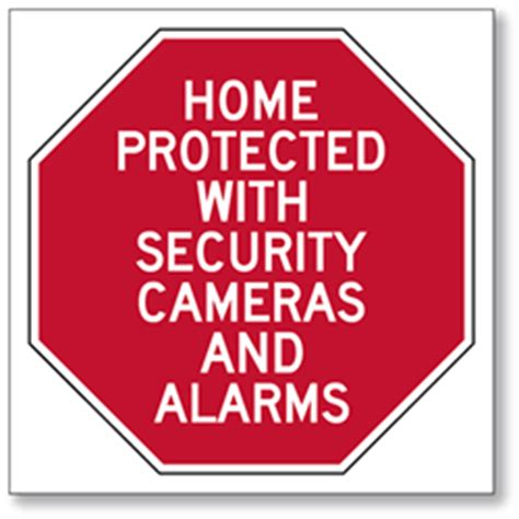 property protected with security cameras 6x6 window decal