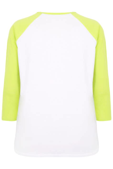 Android Sketch Raglan haut raglang blanc et vert lime 171 pizza not you 187 limited