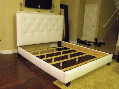 bed frame with headboard king or cal king button tufted headboard and bed frame by