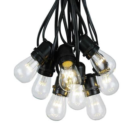 50 Warm White Led S14 Heavy Duty String Light Sets On Commercial Grade Light Strings